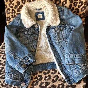 Baby Gap Sherpa-Lined Denim Jacket